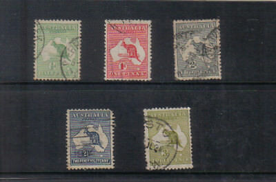 Australia 1913-14 Kangaroos set to 3d used