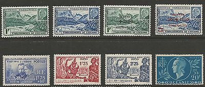 Oceanic Settlements 1938/44, Selection Of 8 Stamps , Mh*