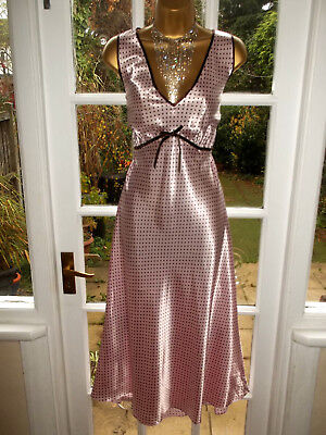 Vintage Style Bon Marche Glossy Satin Slip Nightie Gown UK20-22 Tall Girl