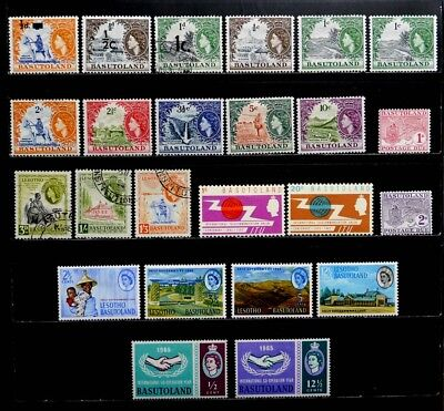Basutoland, British: 1959-65 Stamp Collection Mostly Unused