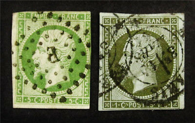 nystamps France Stamp # 12,13 Used $165