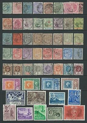 Collection of good used Mauritius stamps.
