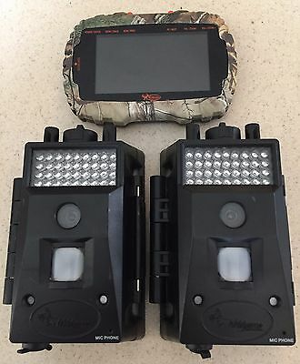 (2) 1858 (1) 1958 Used Wildgame X10 Game Camera 10MP & VU50 Card Reader