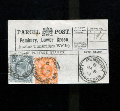 Pembury Lower Green Tunbridge Wells Kent Parcel Post Label 1912