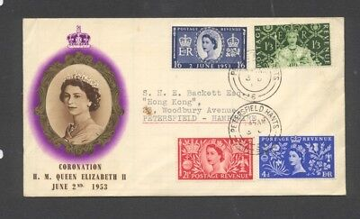 GREAT BRITAIN , 1953 , CORONATION illustrated FDC