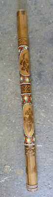 Beautiful Didgeridoo Hand Carved Design and Aboriginal Style Dot Painting