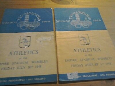2 x London Athletic Olympic Programmes July/August 1948.