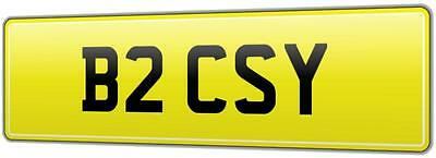 Cosy Old Ford Cosworth Car Reg Number Plate B2 Csy - Cossy Sierra Rs500 Kos Cos