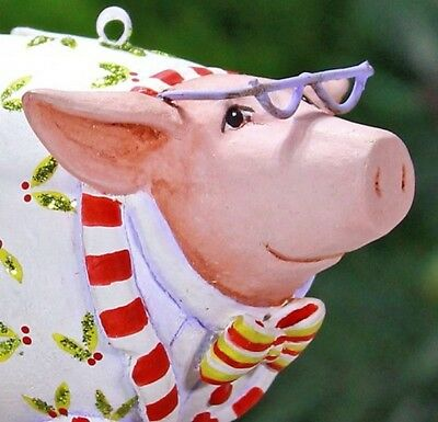 Xmas Krinkles'norbert The Pig 'mini Ornament Patience Brewster New In Gift Box