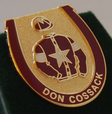 Don Cossack enamel badge - in his racing colours