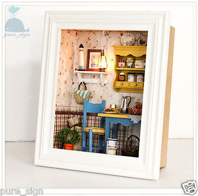 DIY Handcraft Miniature Project Kit Long Late Sunday Brunch Wooden Dolls House