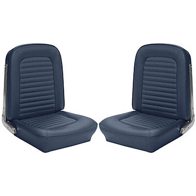 43-70225-2095 Mustang TMI Premium Upholstery Full Set With Front Buckets Blue St