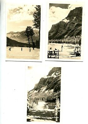 5 Vintage Banff Springs Gold Course Views,real Photo Postcards