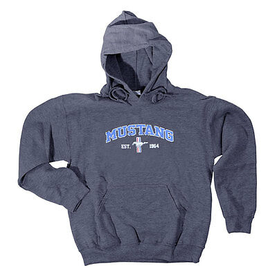 Apparel Hoodie Pull-Over Gray Mustang Est. 1964 Tri-Bar XXX-L