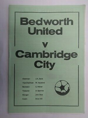 BEDWORTH UNITED v CAMBRIDGE CITY 1976 - 1977 Southern League