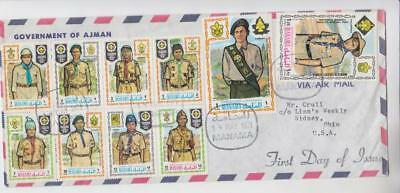 Manama Scout Airmail First Day Cover