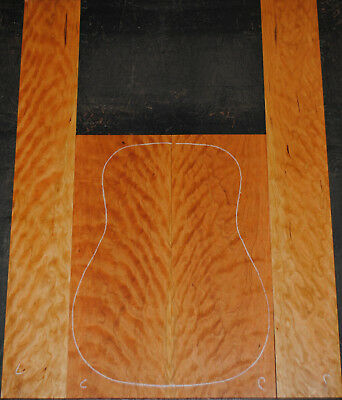 Curly Cherry Acoustic Guitar Back And Side Set Luthier Tonewood