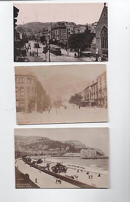 Early photo postcards Mostyn Street LLandudno Conway