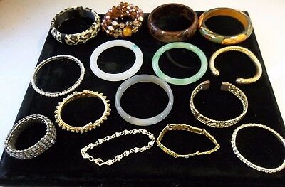 A Mixed Lot Of Vintage Costume Bracelets And Bangles