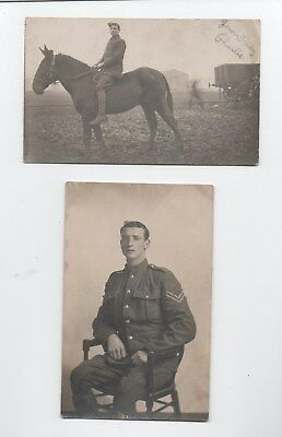 WW1 period uniformed British soldier postcards