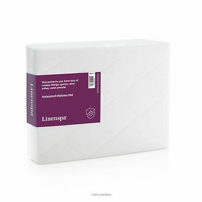 LINENSPA Mattress Pad - 100% WATERPROOF Mattress Cover with Quilted Cover