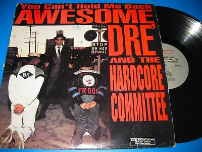 Awesome Dre & The Hardcore Committee.you Can't Hold Me Back.12'' Us Vinyl Lp