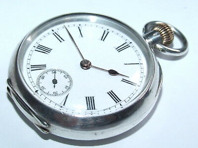 Very Scarce OMEGA Antique c1900 Solid Sterling Silver Pocket Watch, Beautiful!!