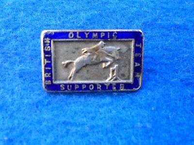 Olympic Games, British Olympic Team Supporters Badge, Show Jumping, Equestrian