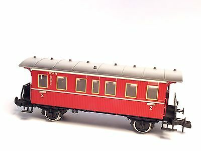 "5424 Marklin Gauge/ Scale 1 Passenger ""old era"" Car Sprung buffers metal wheel"