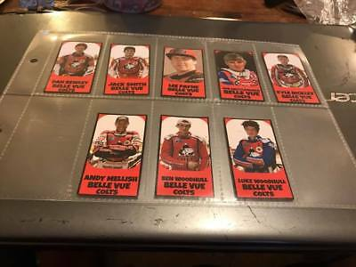 Belle Vue Colts--2017-Speedway Rider Sticky Back Stickers X 8--The Class Of 2017