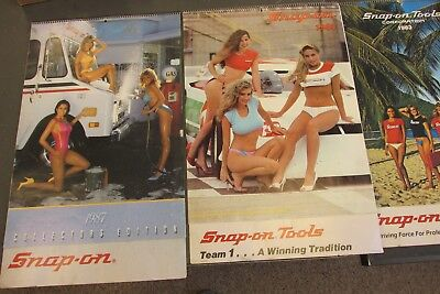 7 Old Snap On Tools 1980S Calendars For Man Cave