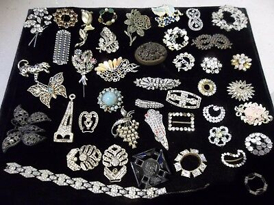 A Mixed Lot Of Costume & Vintage Jewellery Including Buckles For Spare Or Repair