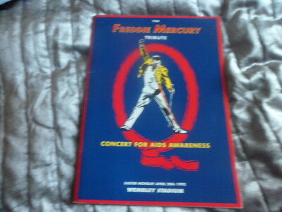 Freddie Mercury Tribute Programme-20/4/1992 Wembley Signed By Roger Daltrey