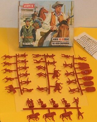 VINTAGE AIRFIX THE HIGH CHAPARRAL / V Rare Later Box COMPLETE SET ON SPRUES 1/72