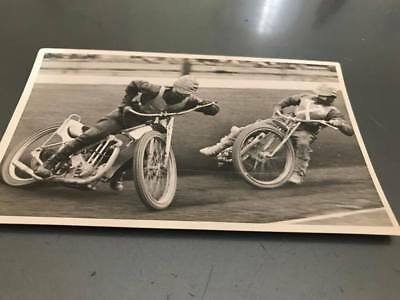 Ronnie Moore Leading Jack Young--1960's--5X3--Speedway--Action Photo