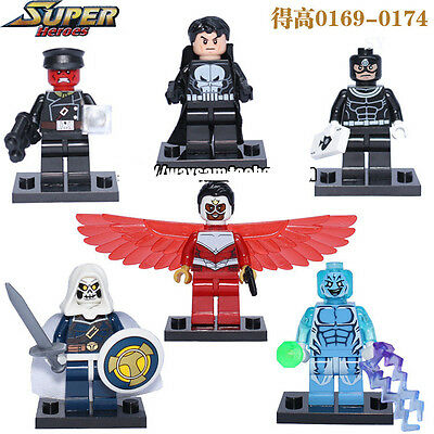 6 PCS SuperHeroes Minifigures Punisher bullseye No Box Fit lego #1