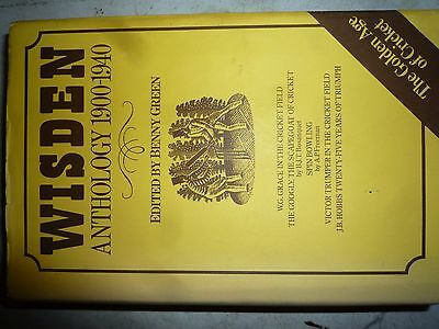 Wisden 1900 - 1940 Cricketers Anthology Almanack Benny Green Cricket Hardback