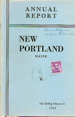 1964 ANNUAL REPORT of the Town of New Portland, Maine
