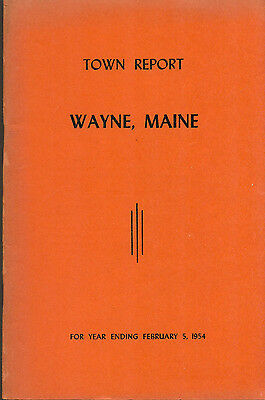 1954 ANNUAL REPORT of the Town of Wayne, Maine