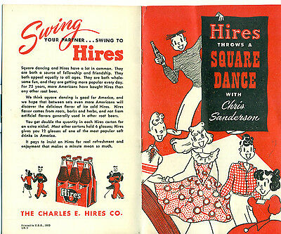 HIRES THROWS A SQUARE DANCE with Chris Sanderson (1950) Hires Root Beer booklet