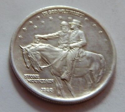 1925 US Commemorative Stone Mountain Silver Half Dollar Coin - General Lee & Jac