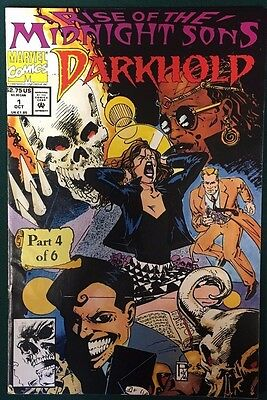 DARKHOLD lot of (4) issues #1 #2 #4 #9 (1992/1993) Marvel Comics w/ posters FINE