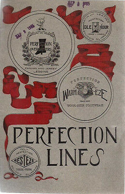 1915 PERFECTION OVERGAITER LINES illustrated slippers footwear wholesale catalog