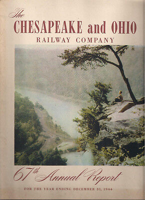 1944 C&O Chesapeake and Ohio Railway Company illustrated 60-page Annual Report