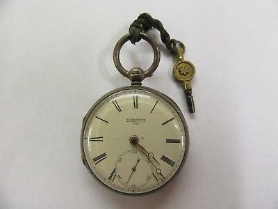 Antique silver pocket watch 1858  (not working).