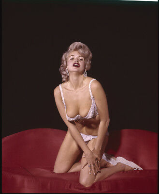 JAYNE MANSFIELD Iconic raunchy pin up bra panties busty 4x5 Photo TRANSPARENCY