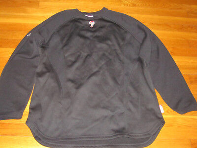 Majestic Therma Base Philadelphia Phillies Pullover  Mens X-Large Excellent