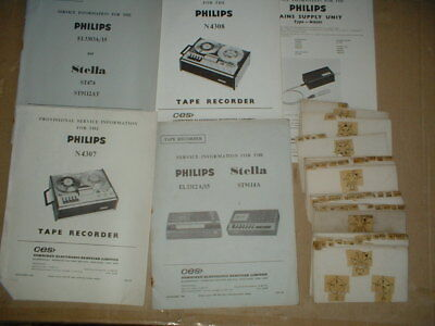 a selection Philips Tape Recorder Service Manuals