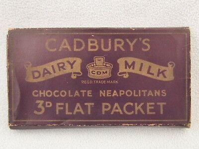 Vintage Cadbury's 3D Dairy Milk Wrapper Chocolate Neapolitans Flat Packet