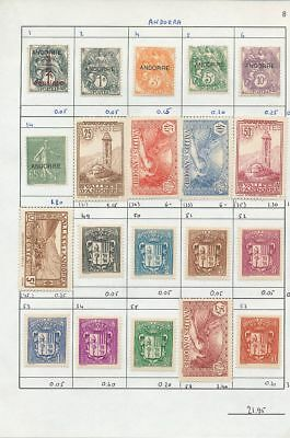 ANDORRA French Dues Airs Mint To 200F (100+Items) Au9733